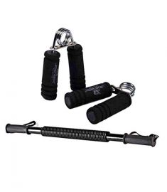 Joerex Combo Pack Of Two Pieces Hand Grip And Power Twister Spring 20Kg Black