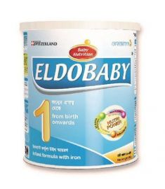 ELDOBABY 1 TIN Infant Formula Milk with Iron (0-6 Months) 400 gm