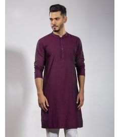 Maroon Printed Slim Fit Panjabi|1715