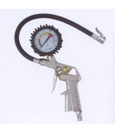 Tire inflator with tire gauge