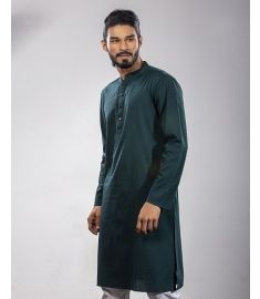 Dark Teal Slim Fit Panjabi|1740