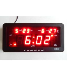 Casio CX-2158 Digital LED Display Wall Mount Alarm Clock