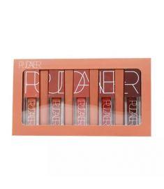 Pudaier lipstick 5 Colors Lip Gloss Waterproof Super Matte