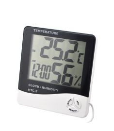 Digital Table Clock With Temperature Indoor/Outdoor Humidity Indicator (HTC-2)
