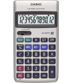 Portable Casio HL-122TV Calculator (Silver)