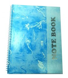 Foiled Note Book (Roll) - Meridian Blue