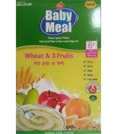 Baby Meal Infant Milk Wheat & 3 Fruits Cereal (From 6 Months) - 350 gm