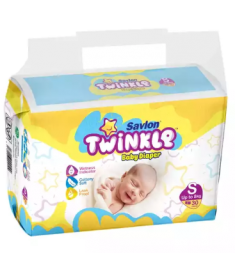 Savlon Twinkle New Born Diaper (Bangladesh) Diaper Belt 8 kg (S)/ 30 pcs