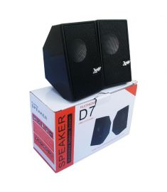 D7 Multimedia Speaker Mini USB 2.0 - Black