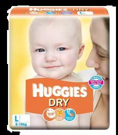Huggies (India) Baby Diaper Belt: 8-14 Kg / 52 pcs