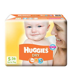 Huggies (India) Baby Diaper Belt: up to 7 Kg / 36 pcs