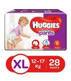 Huggies (India) Baby Diaper Wonder Pants: 12-17 Kg / 28 pcs