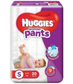 Huggies (India) Baby Diaper Wonder Pants: 4-8 Kg / 20 pcs