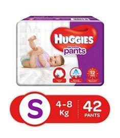 Huggies (India) Baby Diaper Wonder Pants: 4-8 Kg / 42 pcs