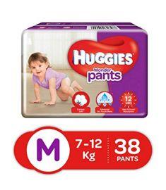 Huggies (India) Baby Diaper Wonder Pants: 7-12 Kg / 38 pcs