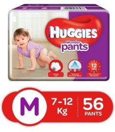 Huggies (India) Baby Diaper Wonder Pants: 7-12 Kg / 56 pcs
