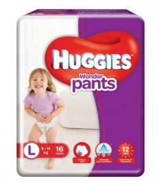 Huggies (India) Baby Diaper Wonder Pants: 9-14 Kg / 16 pcs