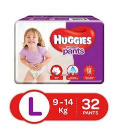 Huggies (India) Baby Diaper Wonder Pants: 9-14 Kg / 32 pcs