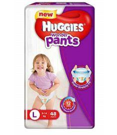Huggies (India) Baby Diaper Wonder Pants: 9-14 Kg / 48 pcs