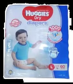 Huggies (Malaysia) Baby Dry Belt Diaper: 9-14 Kg (L) / 60 pcs