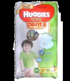 Huggies (Malaysia) Gold Ultra Pants Boys & Girls Diaper: 15-25 Kg / 32 pcs