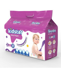 Kidstar Baby Diaper Large 28 Pcs (9-18 KG)