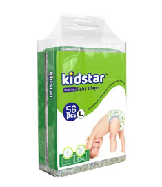 Kidstar Baby Diaper Ultra Thin Large (9-18kg) 56 Pcs