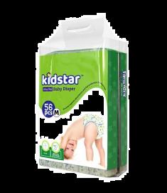 Kidstar Baby Diaper Ultra Thin Medium (6-11kg) 56 Pcs