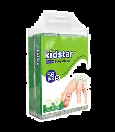 Kidstar Baby Diaper Ultra Thin Small (3-8kg) 56 Pcs