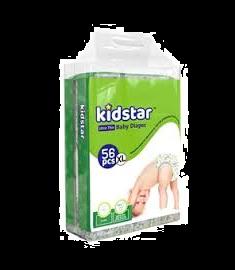 Kidstar Baby Diaper Extra Large (12-25kg) 56 Pcs