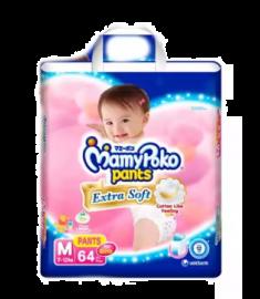 MamyPoko Girls  (Thailand) Pants Diaper Pant 7-12 kg (M)/64 pcs