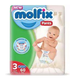 Molfix Baby Diaper Pants 3 Midi 6-11 Kg 60pcs