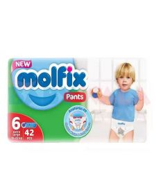 Molfix Baby Diaper Pants 6 Extra Large 15Kg+ 42pcs