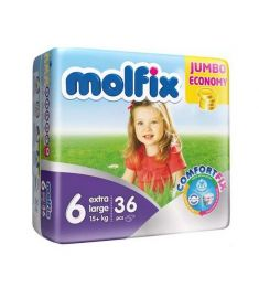 Molfix Diapers Belt System 6 Extra Large 15+kg 36pcs