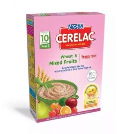 Nestlé Cerelac 3 Wheat & Mixed Fruits (10 month +) BIB - 400 gm