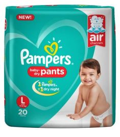 Pampers (India) Baby Dry Pants Diaper: 9-14 Kg / 20 pcs
