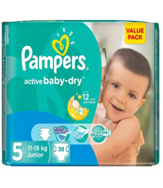 Pampers (Saudi Arabia) Baby Dry Belt Diaper: 11-16 Kg / 38 pcs