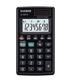 Casio SL-797TV-BK Portable Calculator With 8-Digit