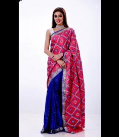 Silk Jamdani Sari || TSD370