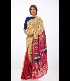 Jute Silk Sari || TSD372