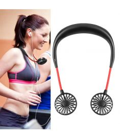 USB Rechargeable Mini Neckband Hanging Style Fan