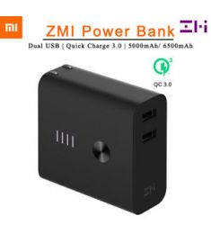 Xiaomi ZMI Power Bank 6500mAh with 2 Port Wall Charger Quick Charge 3.0