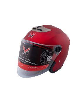 HX Motoroyole Half Face Helmet HX-110-603 Matte Red