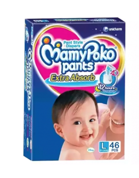 MamyPoko (India) Pants Diaper Pant 9-14 kg (L) / 46 pcs