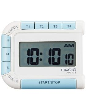 Casio TMR-71-7JH Four-Button White Digital Alarm Clock