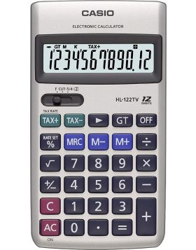 Portable Casio HL-122TV Calculator (Silver)