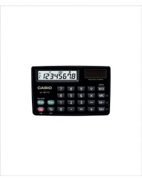 Casio SL-787TV-Bk-W Portable Calculator TWO WAY Power
