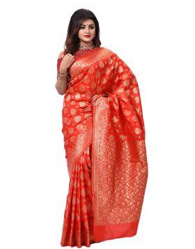 ইন্ডিয়ান বেনারসি কাতান শাড়ি ।। DPK79
