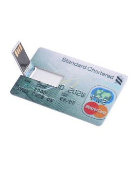 Bank Credit Card Shaped 16 GB USB 2.0 Pen Drive