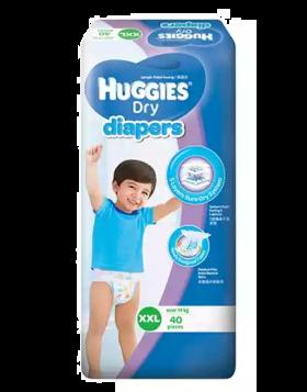 Huggies (Malaysia) Baby Dry Belt Diaper: 14+ Kg (XXL) / 40 pcs